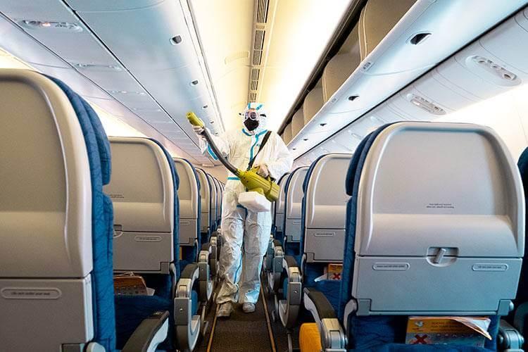 limpeza aviao